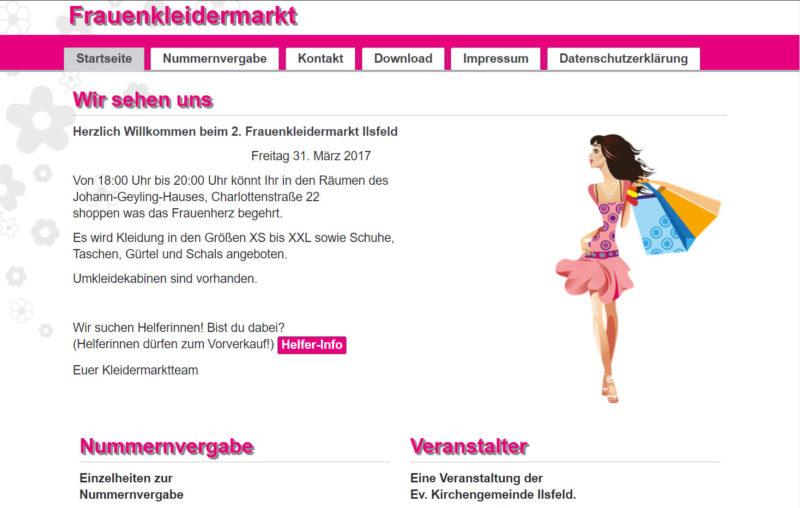 Frauenkleidermarkt Ilsfeld